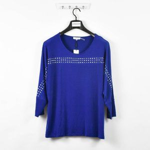Calvin Klein Women's Plus Studded Top Blouse Shirt